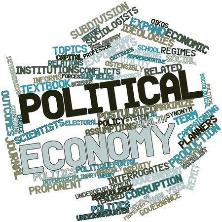Abstract word cloud for Political economy with related tags and terms Stock Photo - 16502588