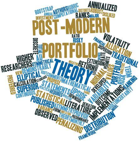 関連するタグと用語の後現代ポートフォリオ理論の抽象的な単語雲