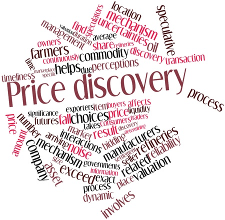 liquidity: Abstract word cloud for Price discovery with related tags and terms Stock Photo