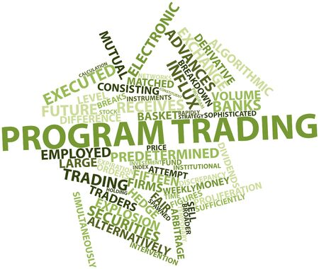 developed: Abstract word cloud for Program trading with related tags and terms