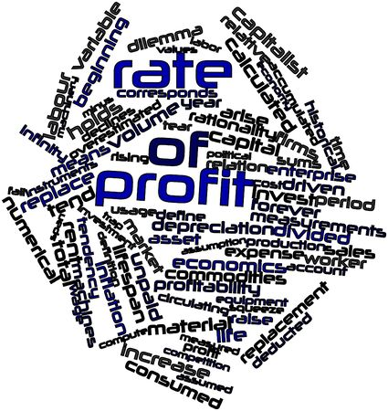 corresponds: Abstract word cloud for Rate of profit with related tags and terms Stock Photo
