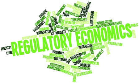 regulation: Abstract word cloud for Regulatory economics with related tags and terms
