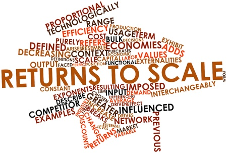 Abstract word cloud for Returns to scale with related tags and terms Stock Photo - 16501527