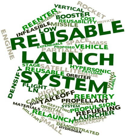 payload: Abstract word cloud for Reusable launch system with related tags and terms