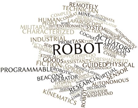 Abstract word cloud for Robot with related tags and terms Stock Photo - 16501600