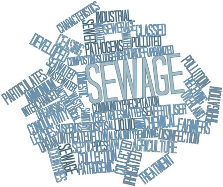 Abstract word cloud for Sewage with related tags and terms photo