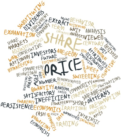 equivalent: Abstract word cloud for Share price with related tags and terms