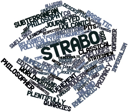 Abstract word cloud for Strabo with related tags and terms photo