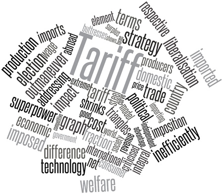 discriminating: Abstract word cloud for Tariff with related tags and terms Stock Photo
