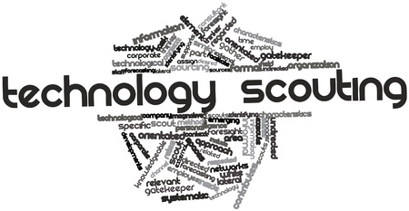 Abstract word cloud for Technology scouting with related tags and terms Stock Photo - 16501340