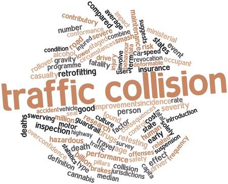 accident rate: Nube palabra abstracta por colisi�n de tr�fico con etiquetas y t�rminos relacionados