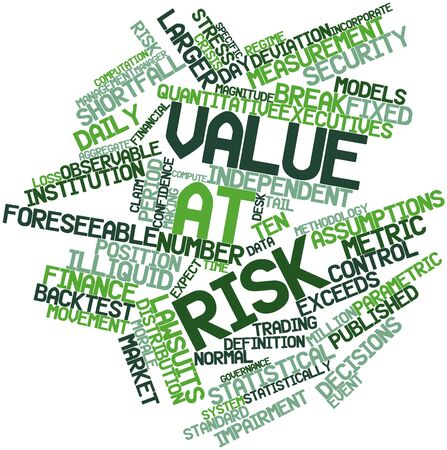 assumptions: Abstract word cloud for Value at risk with related tags and terms