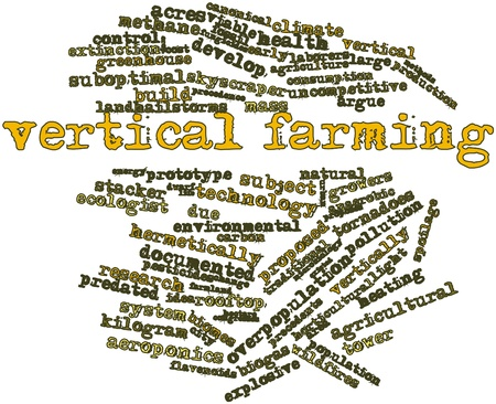 infestation: Abstract word cloud for Vertical farming with related tags and terms Stock Photo