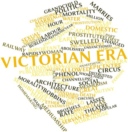 water birth: Abstract word cloud for Victorian era with related tags and terms
