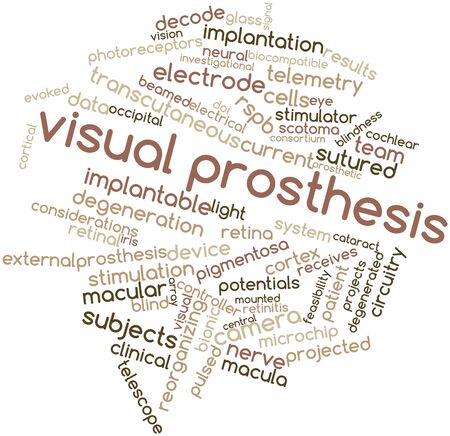 peripheral nerve: Abstract word cloud for Visual prosthesis with related tags and terms