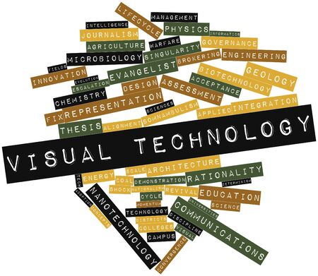 determinism: Abstract word cloud for Visual technology with related tags and terms