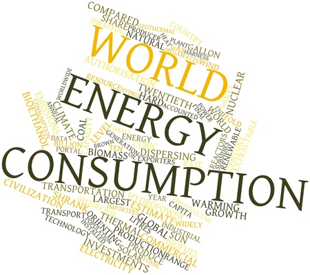 orienting: Abstract word cloud for World energy consumption with related tags and terms