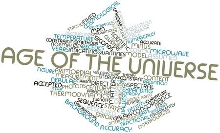 observational: Nube palabra abstracta para la edad del universo, con etiquetas y t�rminos relacionados