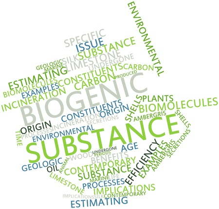Abstract word cloud for Biogenic substance with related tags and terms