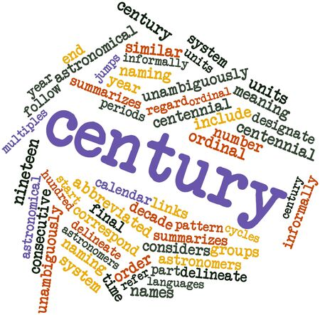 abbreviated: Abstract word cloud for Century with related tags and terms Stock Photo