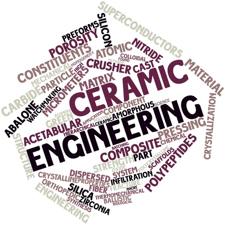 Abstract word cloud for Ceramic engineering with related tags and terms Stock Photo - 16501987