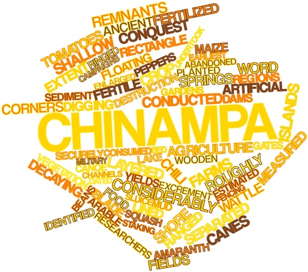 sediment: Abstract word cloud for Chinampa with related tags and terms
