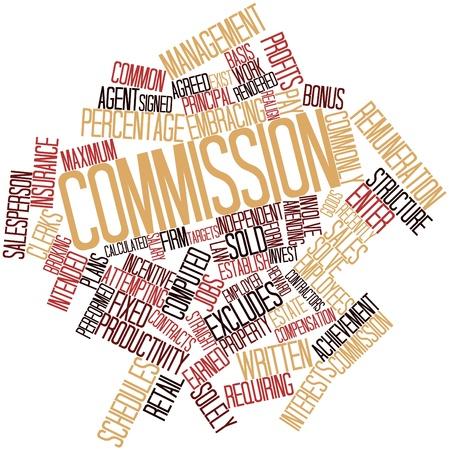 akkoord: Abstract woordwolk voor de Commissie met gerelateerde tags en voorwaarden