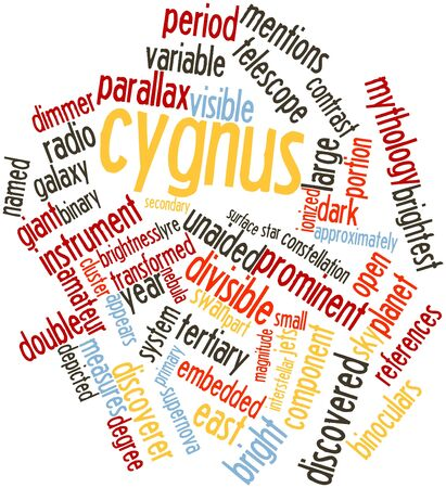 Abstract word cloud for Cygnus with related tags and terms Stock Photo - 16502446