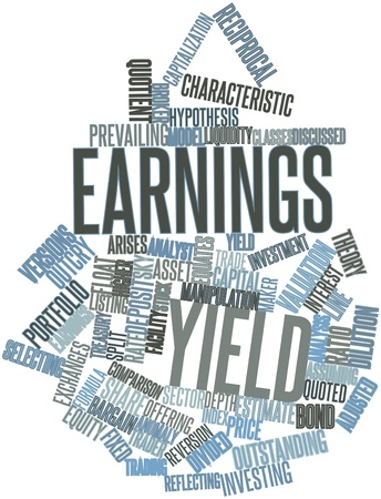 adjusted: Abstract word cloud for Earnings yield with related tags and terms