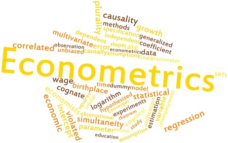 Abstract word cloud for Econometrics with related tags and terms Stock Photo - 16501404