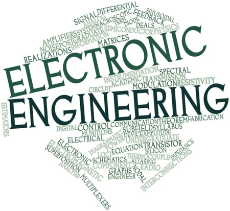 diagrammatic: Abstract word cloud for Electronic engineering with related tags and terms
