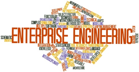 enterprise: Abstract word cloud for Enterprise engineering with related tags and terms