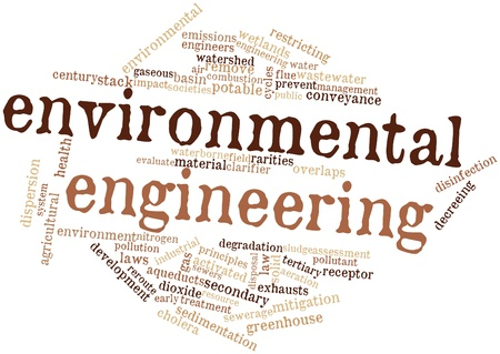 gaseous: Abstract word cloud for Environmental engineering with related tags and terms