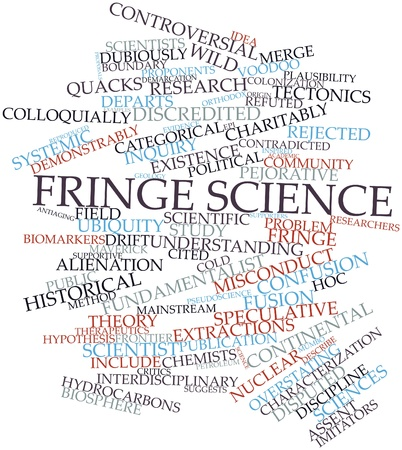 proponents: Abstract word cloud for Fringe science with related tags and terms