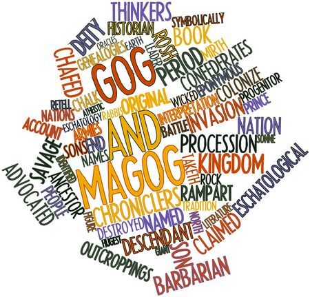 slain: Abstract word cloud for Gog and Magog with related tags and terms