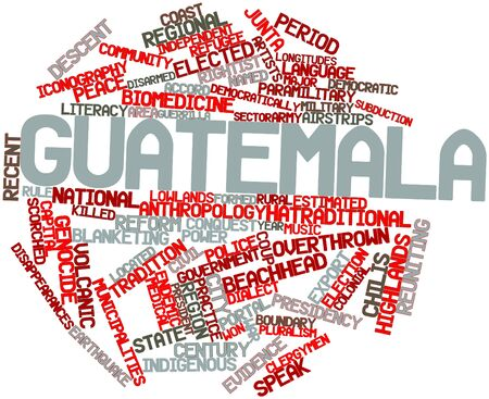 municipalities: Abstract word cloud for Guatemala with related tags and terms
