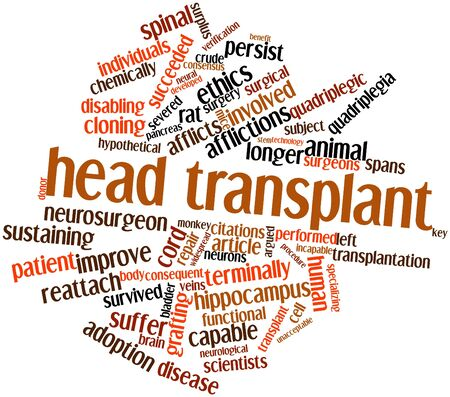 Abstract word cloud for Head transplant with related tags and terms photo