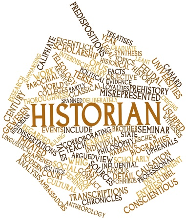 ruling: Abstract word cloud for Historian with related tags and terms