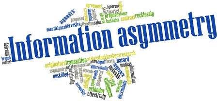 constraints: Abstract word cloud for Information asymmetry with related tags and terms Stock Photo