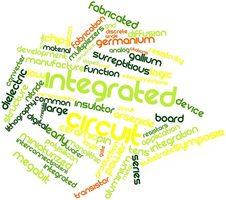 substrate: Abstract word cloud for Integrated circuit with related tags and terms