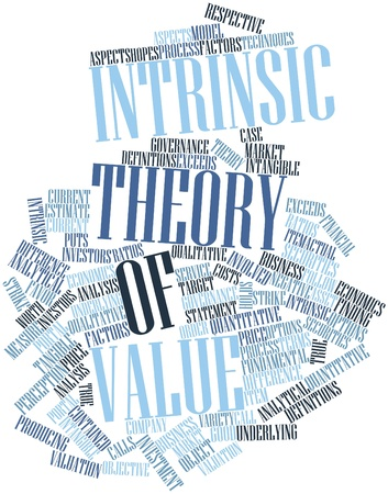 Abstract word cloud for Intrinsic theory of value with related tags and terms Stock Photo - 16502433