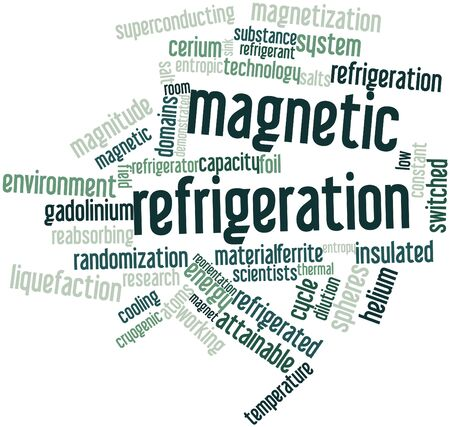 gaseous: Abstract word cloud for Magnetic refrigeration with related tags and terms
