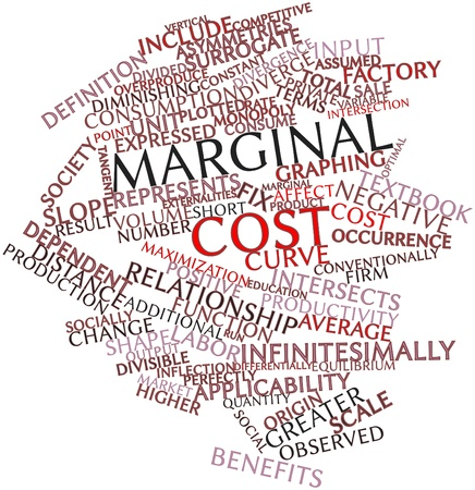 socially: Abstract word cloud for Marginal cost with related tags and terms Stock Photo