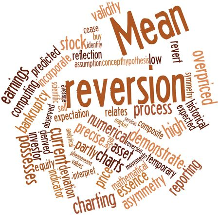 possesses: Abstract word cloud for Mean reversion with related tags and terms