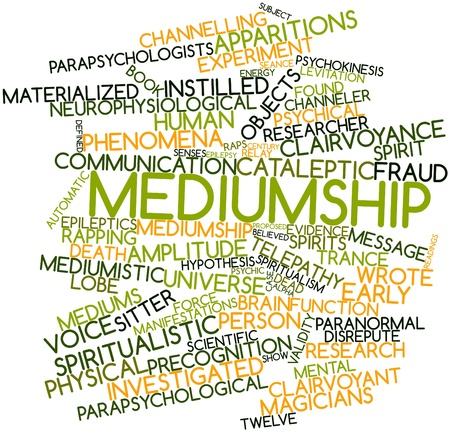 psychical: Abstract word cloud for Mediumship with related tags and terms