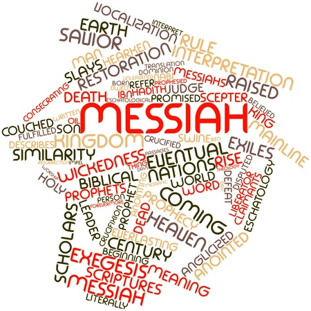 theology: Abstract word cloud for Messiah with related tags and terms
