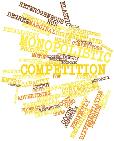monopolies: Abstract word cloud for Monopolistic competition with related tags and terms