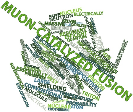 fatter: Abstract word cloud for Muon-catalyzed fusion with related tags and terms