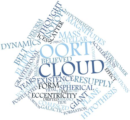 Abstract word cloud for Oort cloud with related tags and terms Stock Photo - 16501533