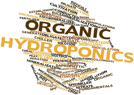 fundamentals: Abstract word cloud for Organic hydroponics with related tags and terms